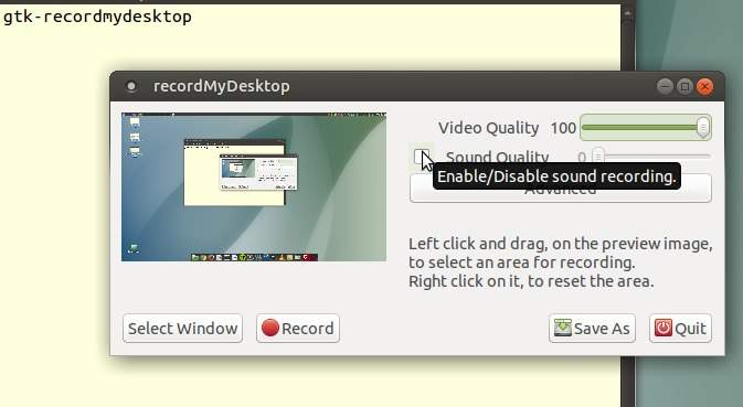 GTK-recordMyDesktop